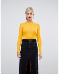 Stradivarius - Ribbed Cropped Jersey - Lyst