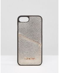 CALVIN KLEIN 205W39NYC - Iphone 7 Metallic Phone Case With Logo - Lyst
