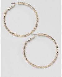 Missguided Hoop Gold Earrings