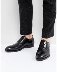 Steve Madden - Candid Brogue Shoes In Black - Lyst