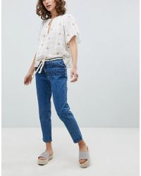 Vanessa Bruno Athé - Vanessa Bruno Embroidered Cropped Jeans - Lyst