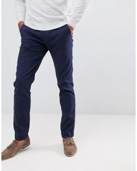 Ted Baker - Smart Slim Chinos In Textured Pindot - Lyst