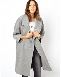ASOS | Slouch Textured Coat | Lyst