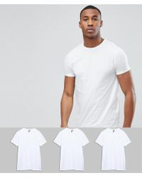 ASOS - Crew Neck T-shirt 3 Pack Save - Lyst
