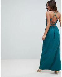 ASOS DESIGN - Asos Tie Back Maxi Dress - Lyst