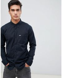 Hollister - Muscle Fit Icon Logo Oxford Shirt In Black - Lyst