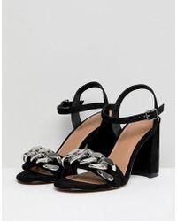 ASOS - Hawk Chain Block Heeled Sandals - Lyst