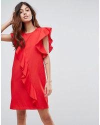 Vero Moda - Frill Asymetric Dress - Lyst