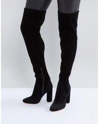ALDO - Tenesha Velvet Over The Knee Boots - Lyst