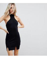 ASOS - Choker Neck Mini Bodycon Dress With Splits - Lyst