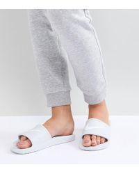 Nike - Kawa Slider Sandals In White - Lyst