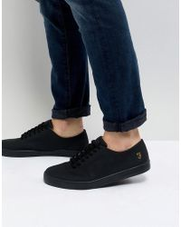 Farah - Kiln Logo Trainers In Black - Lyst