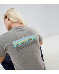 Patagonia - Pastel P-6 Logo Responsibili-tee In Grey - Lyst