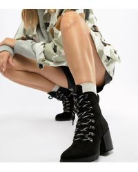 Truffle Collection - Heeled Hiker Boots - Lyst