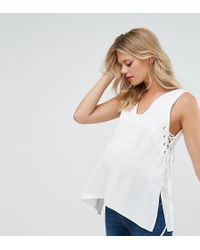 ASOS - Vest With Lace Up Sides - Lyst
