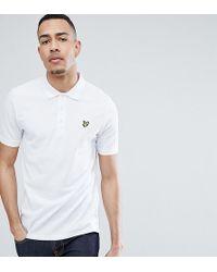 Lyle & Scott - Logo Pique Polo Shirt In White - Lyst