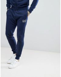 EA7 | Slim Fit Small Logo Sweat Joggers In Navy | Lyst
