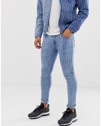 Liquor N Poker - Skinny Jeans With Pinstripe - Lyst