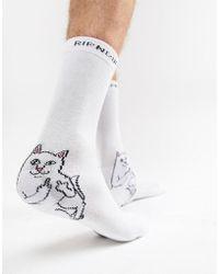 RIPNDIP - Ripndip Lord Nermal Socks In White - Lyst