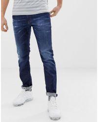 0eb97007 DIESEL Thommer Slim Stretch Jean 84kw Dark Wash in Blue for Men - Lyst