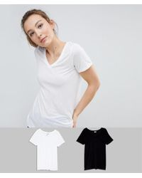 ASOS - Design V-neck Swing T-shirt 2 Pack Save 10% - Lyst