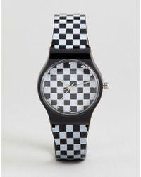ASOS - Design Checkerboard Watch - Lyst