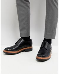 Grenson - Archie Chunky Brogue Shoes In Black - Lyst
