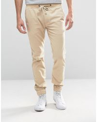 Hollister - Pull-on Chino Drawcord Stretch Waistband In Beige - Lyst
