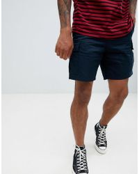 Weekday - Norman Cargo Shorts Navy - Lyst