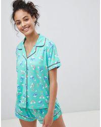 Chelsea Peers - Rainbow Magic Whale Short Sleeve Pyjama Set - Lyst