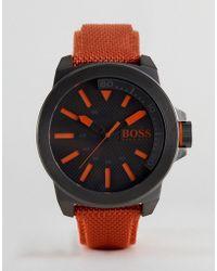 BOSS Orange - By Hugo Boss New York Watch With Orange Strap - Lyst