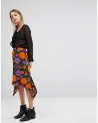 Warehouse | Mica Carnation Skirt | Lyst