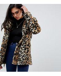 ASOS - Asos Design Tall Animal Faux Fur Coat - Lyst