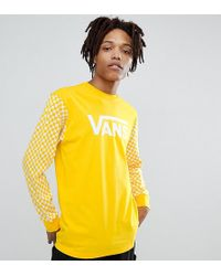 Vans - Heritage Long Sleeve Top With Checkerboard Sleeve Exclusive To Asos - Lyst