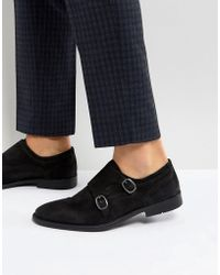 ASOS - Chaussures derby en daim avec semelle effet vieilli - Lyst