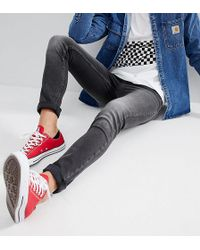 Just Junkies - Skinny Jeans In Grey Wash - Lyst