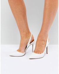 ASOS - Prefect Slingback Pointed Heels - Lyst