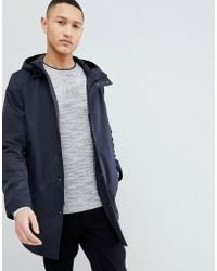 Ted Baker - Smart Parka With Zip Detail In Navy - Lyst
