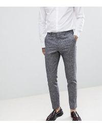 Heart & Dagger - Slim Suit Trousers In Linen Texture - Lyst
