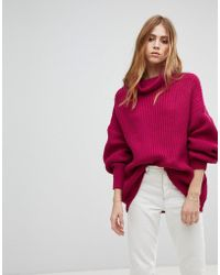 Free People - Swim Too Deep Oversized High Neck Jumper - Lyst