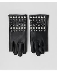 ASOS Leather Look Gloves With Pearl And Stud Detail