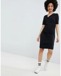 Monki - Ruched Dress - Lyst