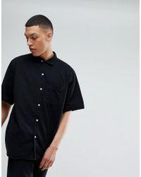 Weekday | Solo Denim Shirt Black | Lyst