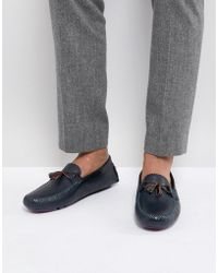 Ted Baker - Urbonn Leather Drivers In Navy - Lyst