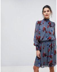 Y.A.S - Floral High Neck Skater Dress - Lyst