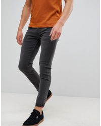 Only & Sons - Skinny Gray Jeans - Lyst