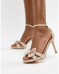 Coast - Bow Sandal Heel Shoes - Lyst