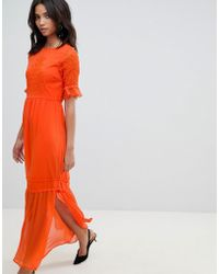 Y.A.S - Lace Embroidered Maxi Dress - Lyst