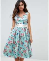 Hell Bunny - 50's Floral Skater Dress - Lyst