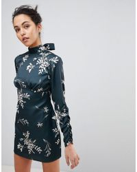 Finders Keepers - Finders Floral Mini Dress - Lyst